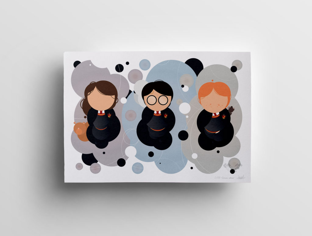 Trio sorciers célèbres ronds